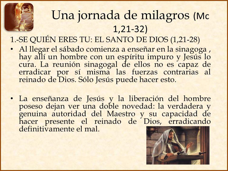 Una jornada de milagros (Mc 1,21-32)