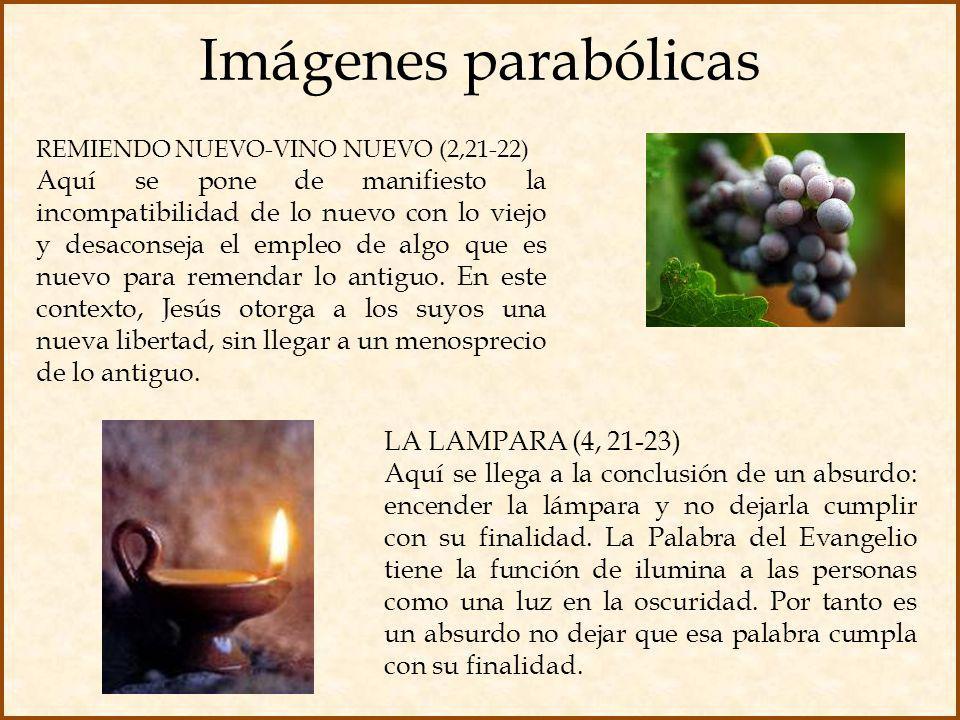 Imágenes parabólicas REMIENDO NUEVO-VINO NUEVO (2,21-22)