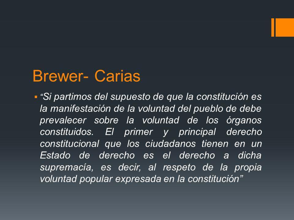 Brewer- Carias