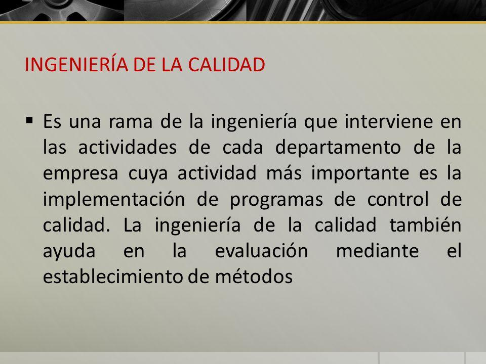 INGENIERÍA DE LA CALIDAD
