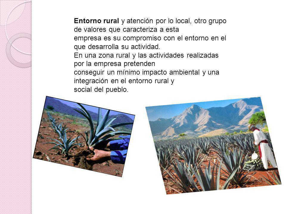 Entorno rural y atención por lo local, otro grupo de valores que caracteriza a esta