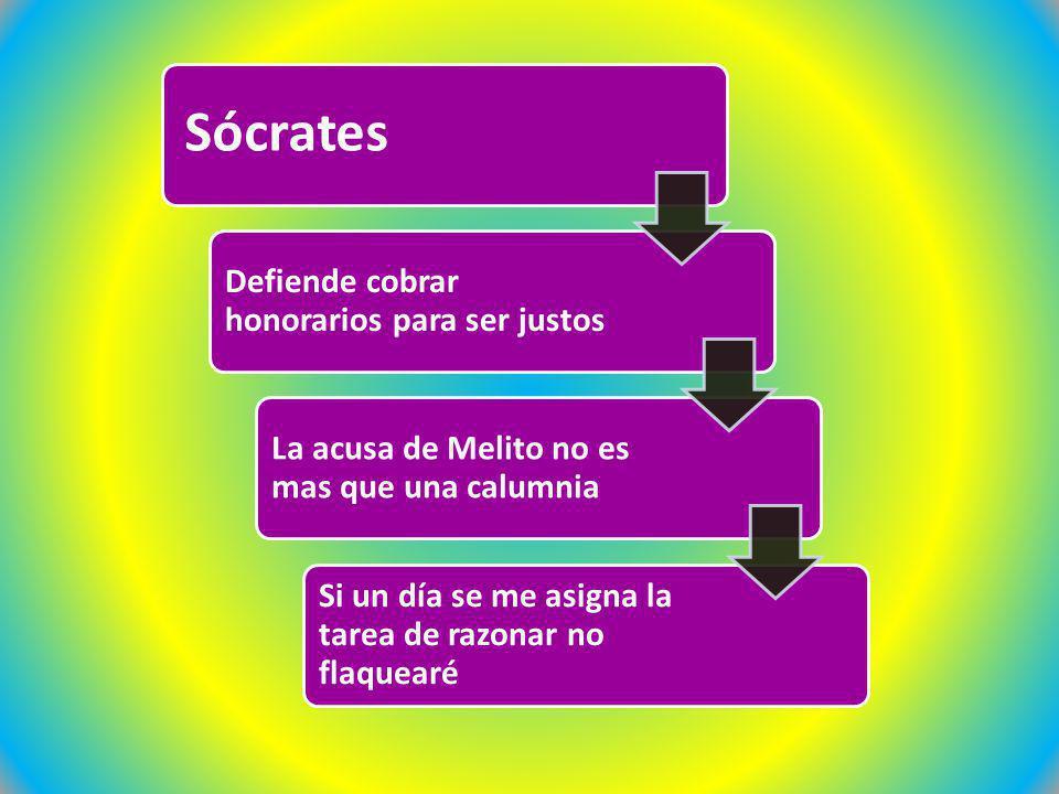 Sócrates Defiende cobrar honorarios para ser justos