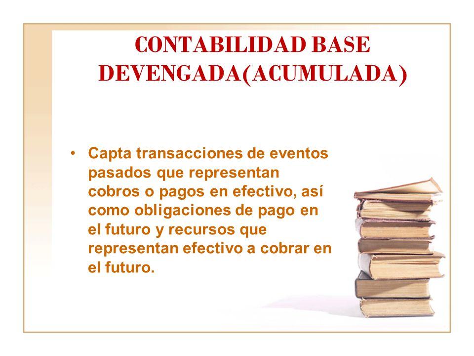 CONTABILIDAD BASE DEVENGADA(ACUMULADA)