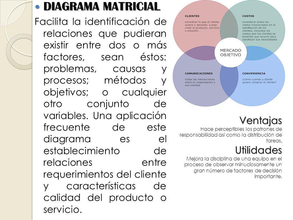 DIAGRAMA MATRICIAL Ventajas Utilidades