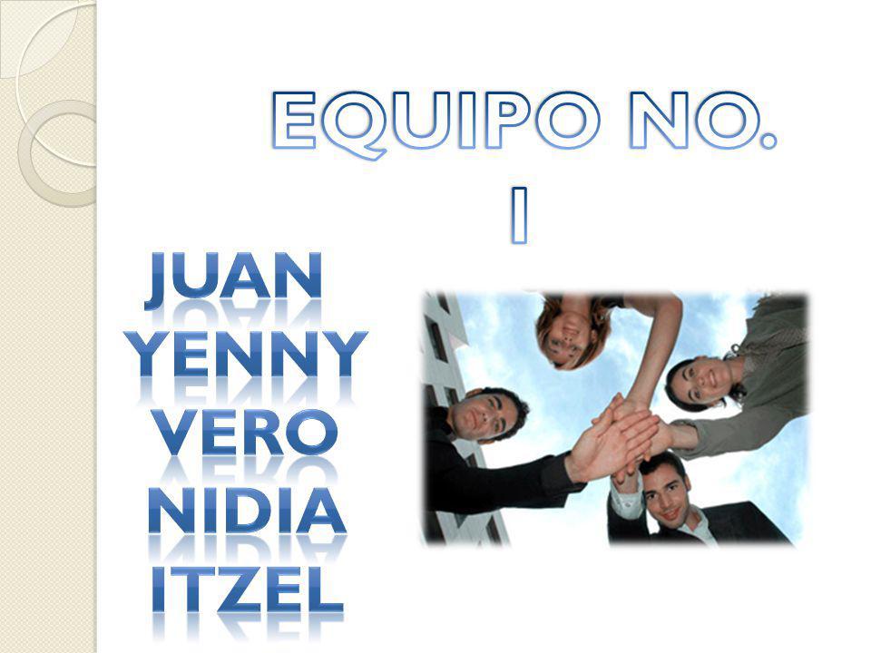 EQUIPO NO. 1 Juan Yenny Vero Nidia itzel