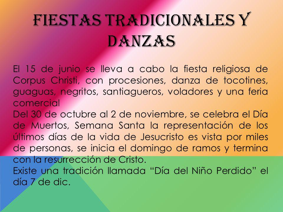 FIESTAS TRADICIONALES Y DANZAS