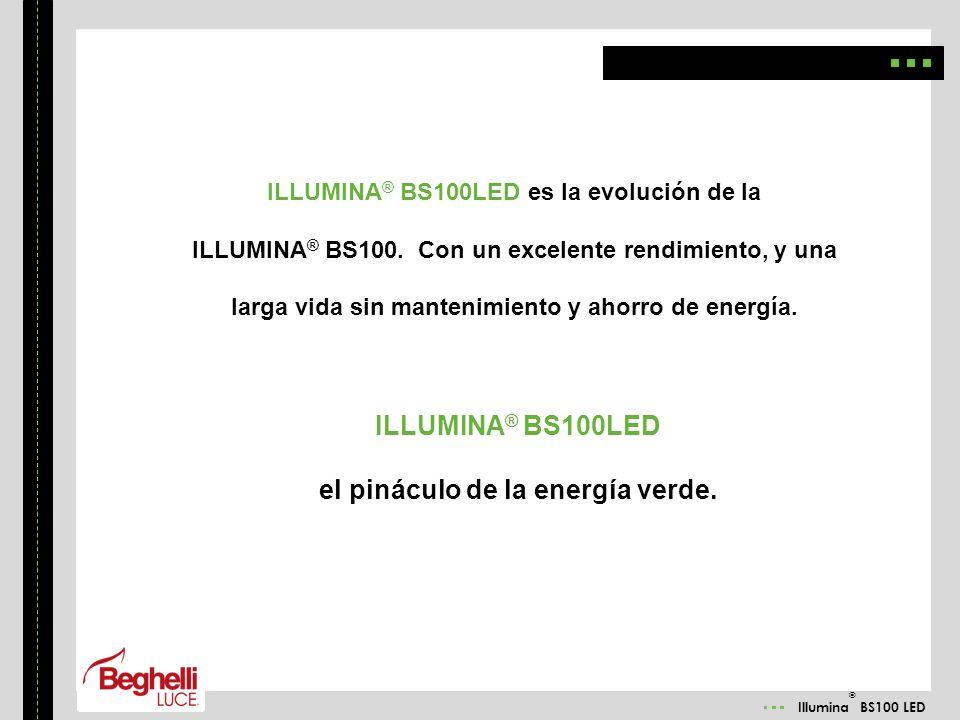 ILLUMINA® BS100LED el pináculo de la energía verde.