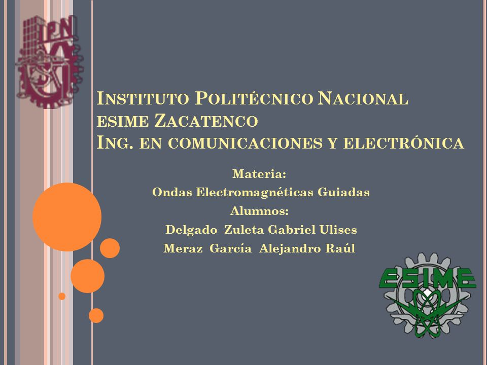 Instituto Politécnico Nacional esime Zacatenco Ing