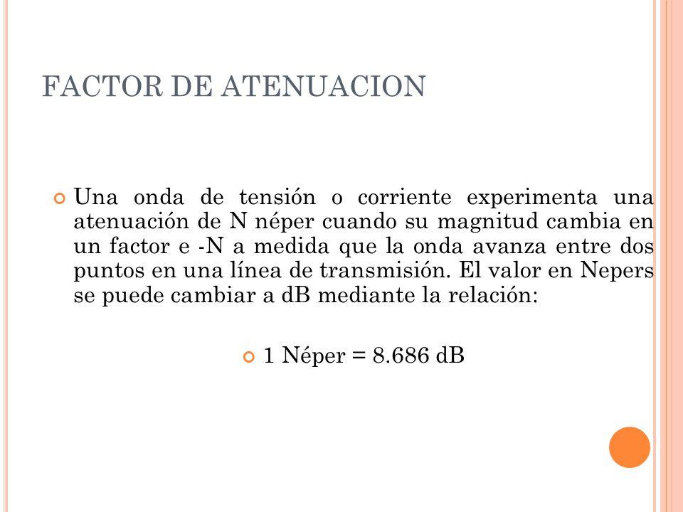 FACTOR DE ATENUACION
