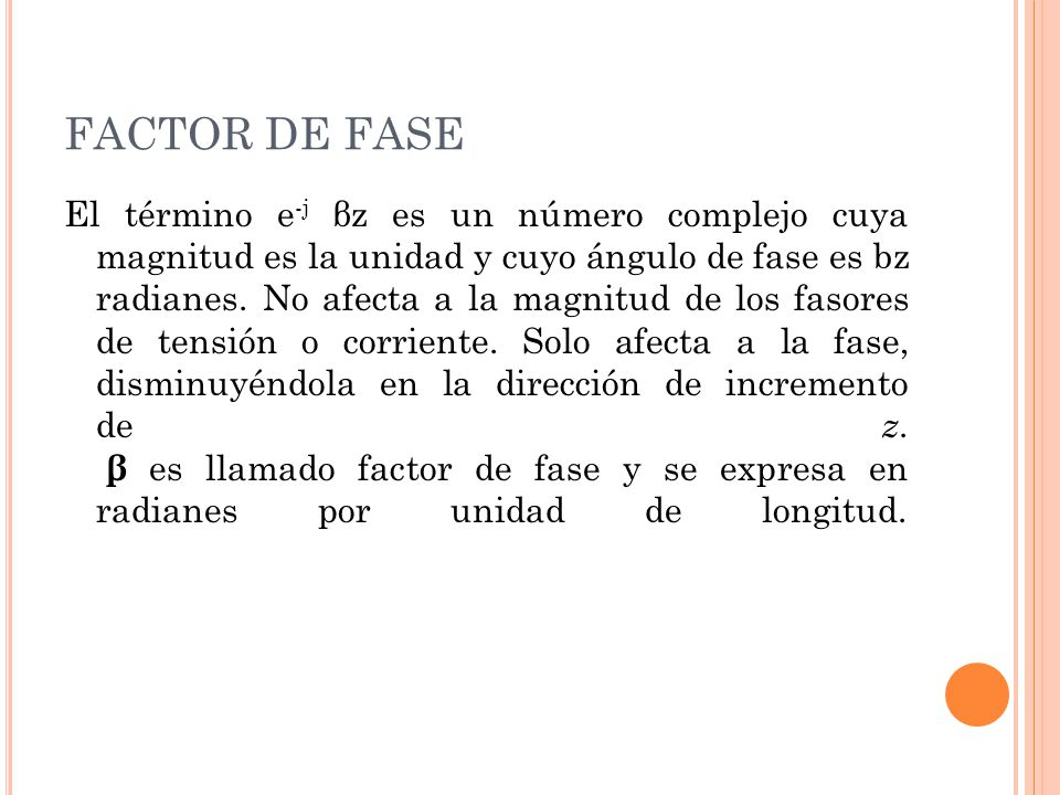 FACTOR DE FASE