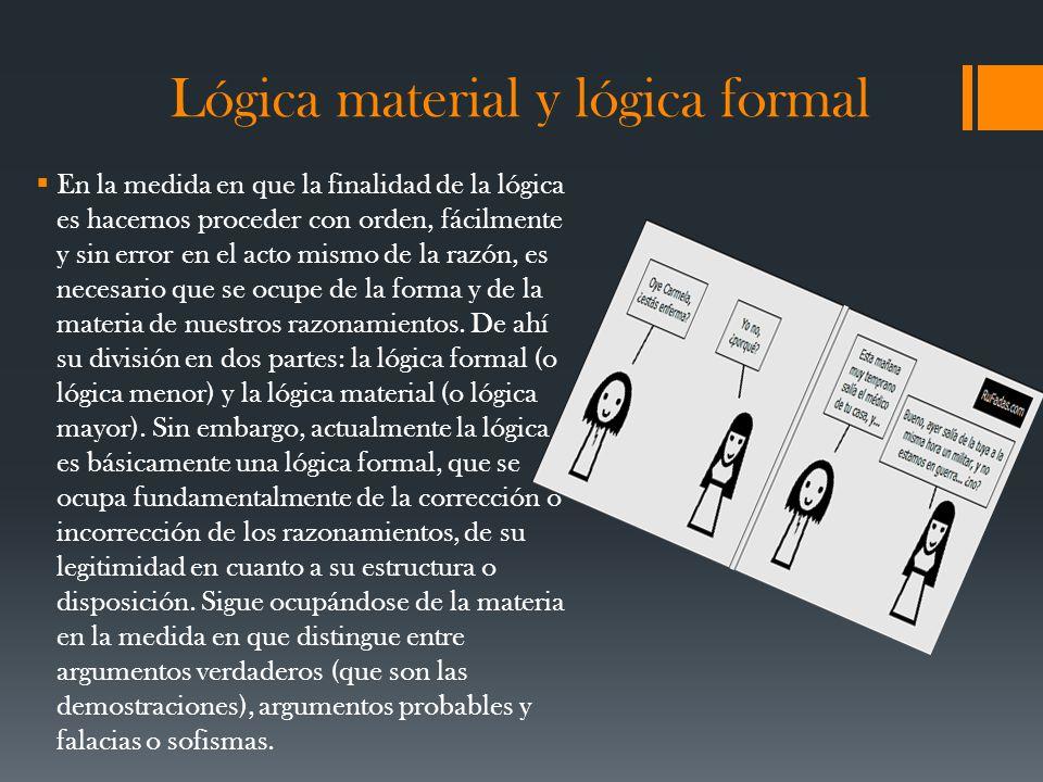 Lógica material y lógica formal