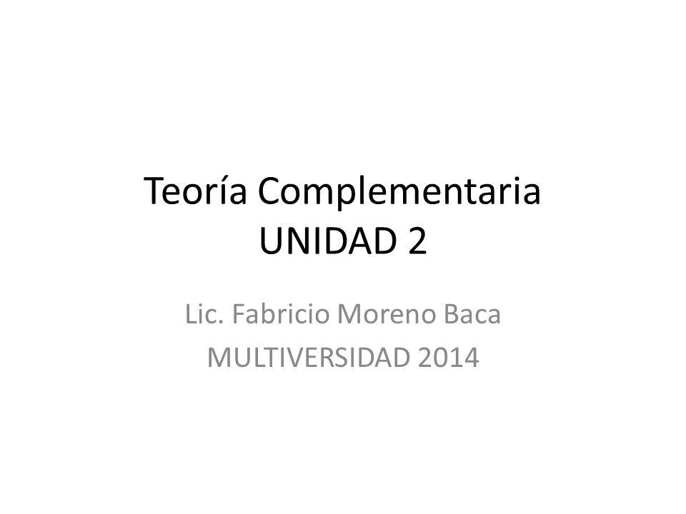 Teoría Complementaria UNIDAD 2