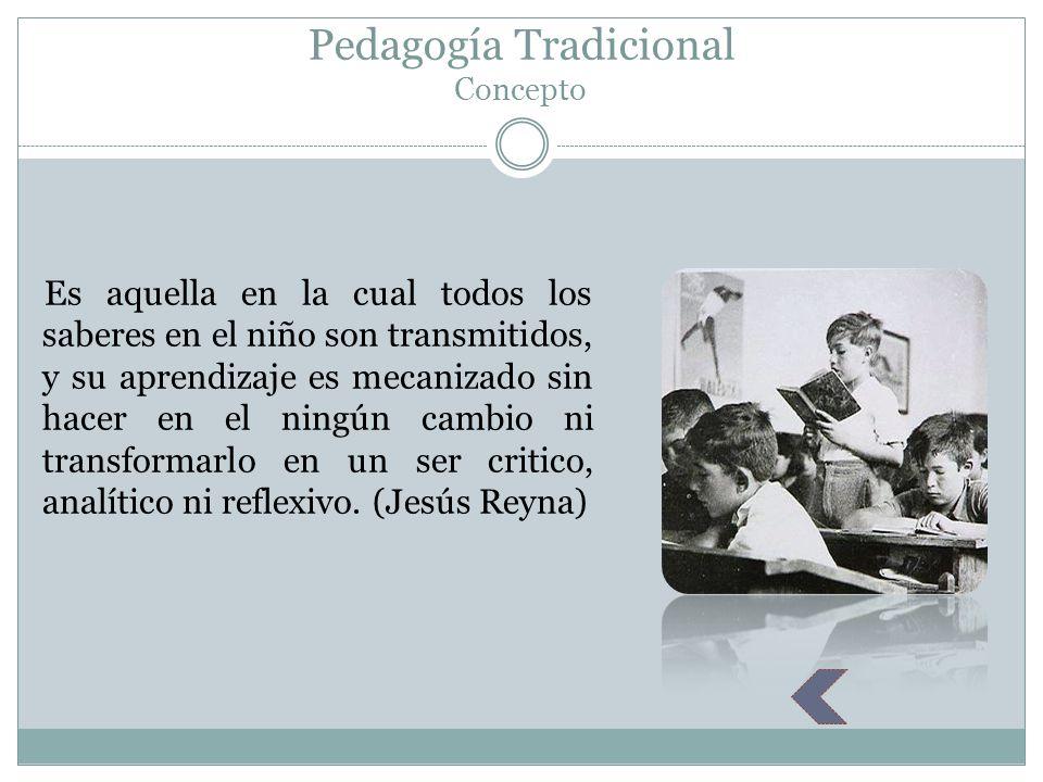 Pedagogía Tradicional Concepto