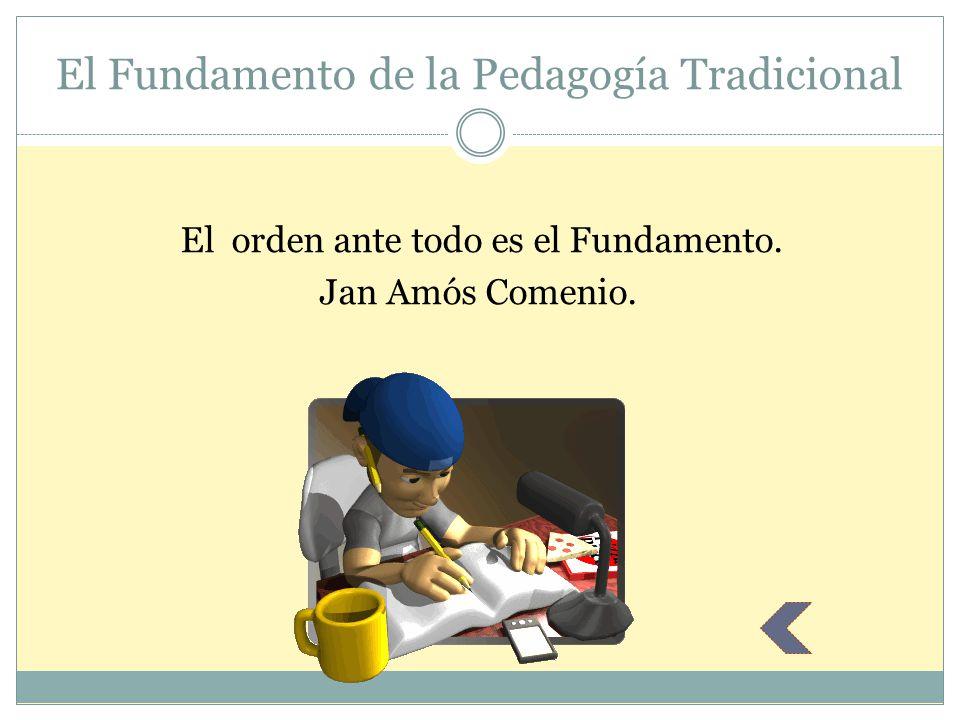 El Fundamento de la Pedagogía Tradicional