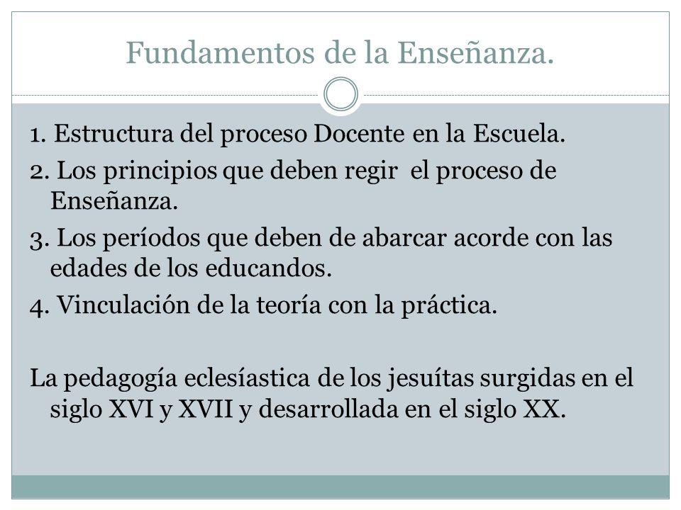 Fundamentos de la Enseñanza.