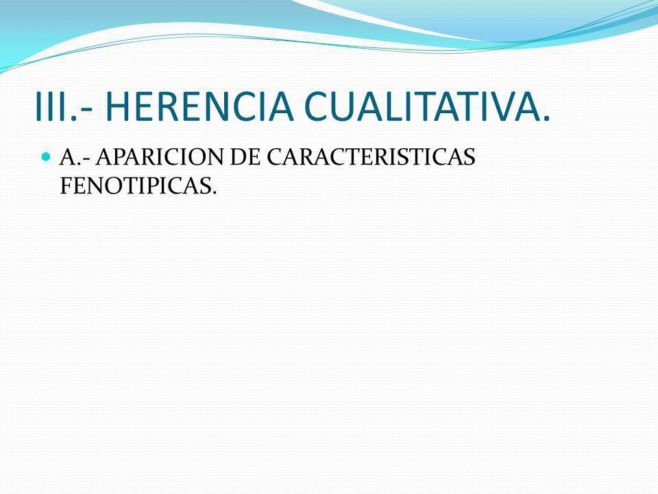 III.- HERENCIA CUALITATIVA.