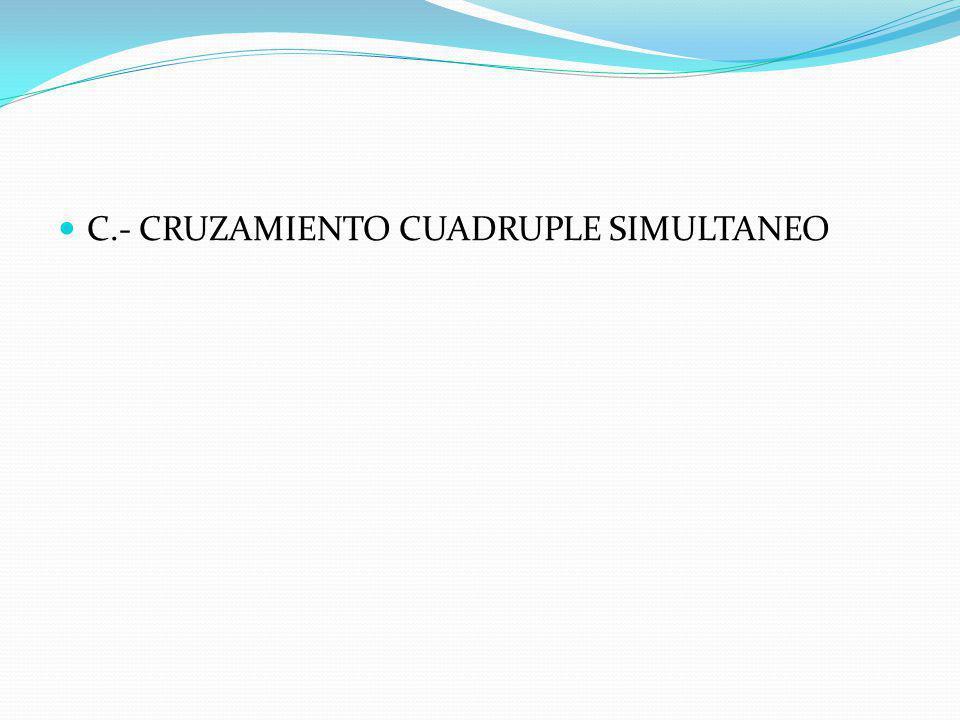 C.- CRUZAMIENTO CUADRUPLE SIMULTANEO