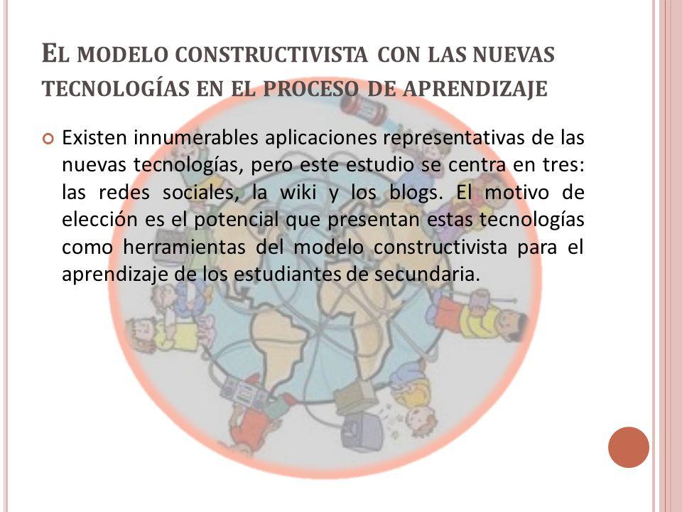 El modelo constructivista con las nuevas tecnologías en el proceso de aprendizaje