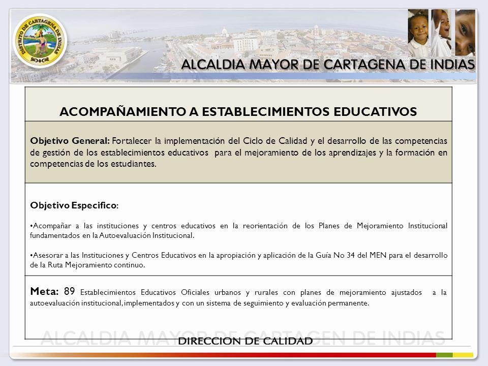 ACOMPAÑAMIENTO A ESTABLECIMIENTOS EDUCATIVOS