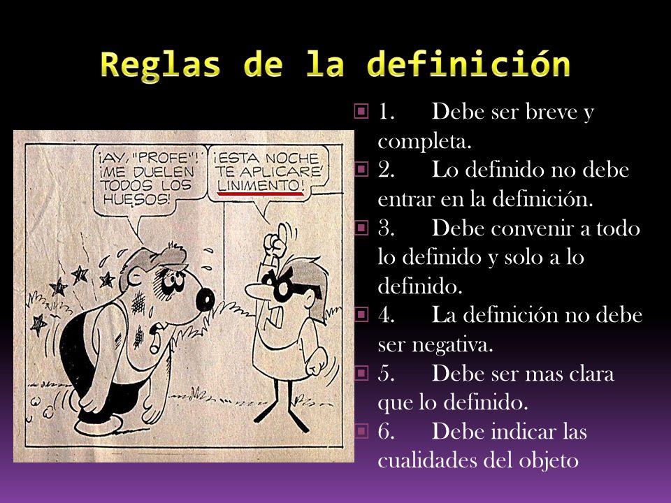 Reglas de la definición