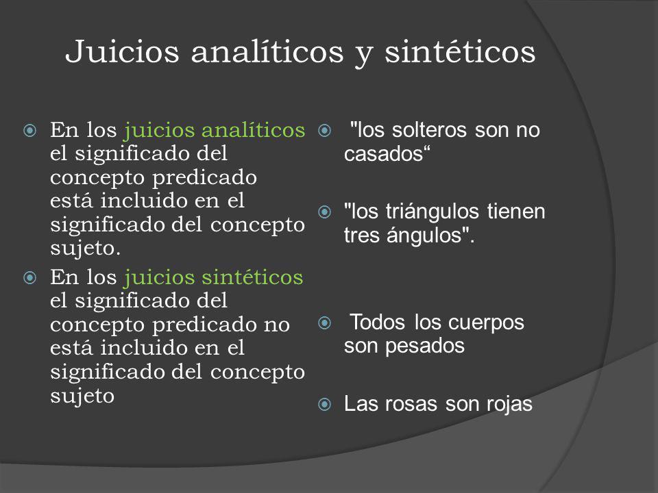 Juicios analíticos y sintéticos