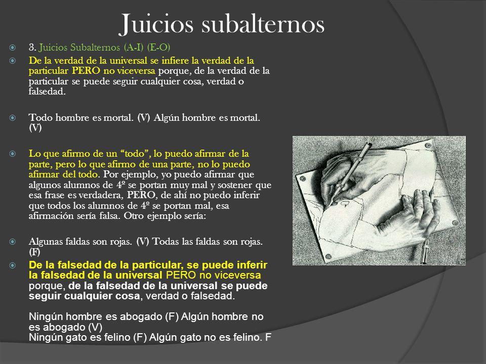 Juicios subalternos 3. Juicios Subalternos (A-I) (E-O)