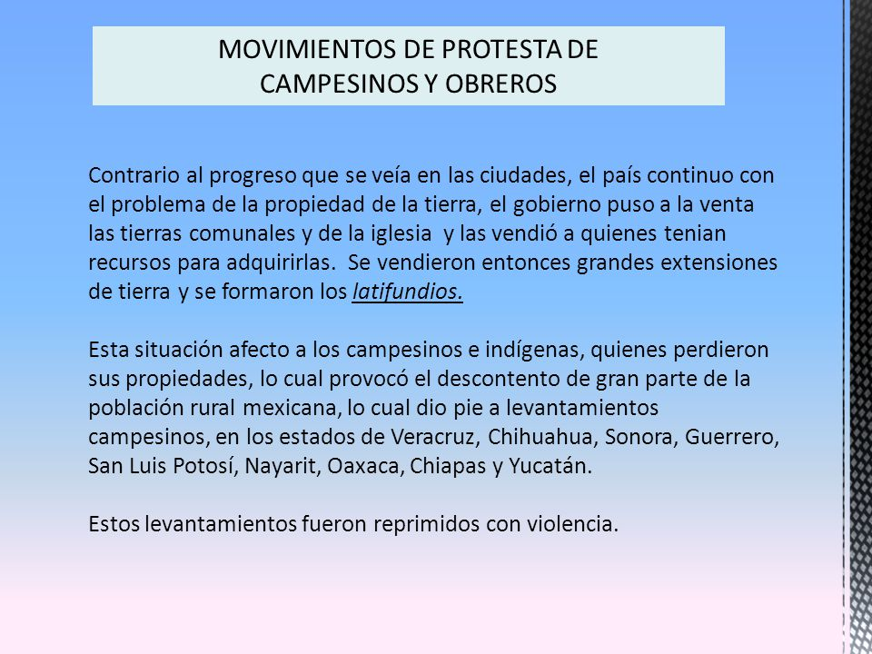 MOVIMIENTOS DE PROTESTA DE