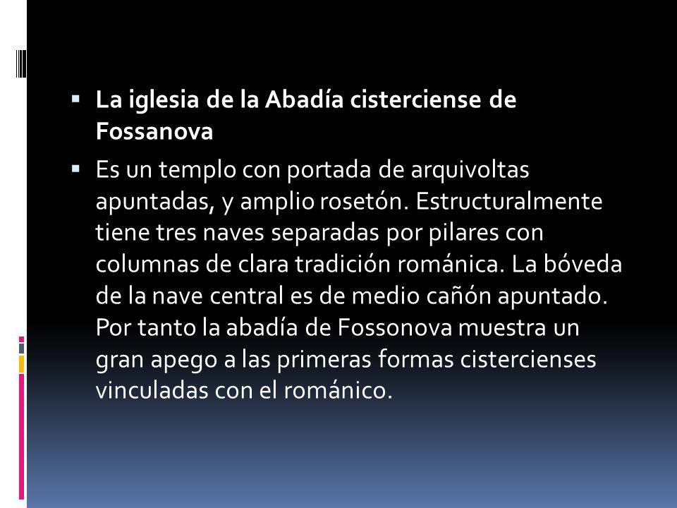 La iglesia de la Abadía cisterciense de Fossanova