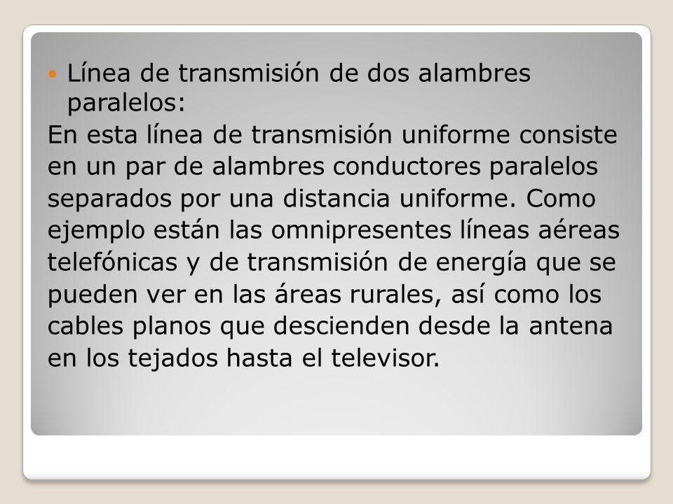Línea de transmisión de dos alambres paralelos: