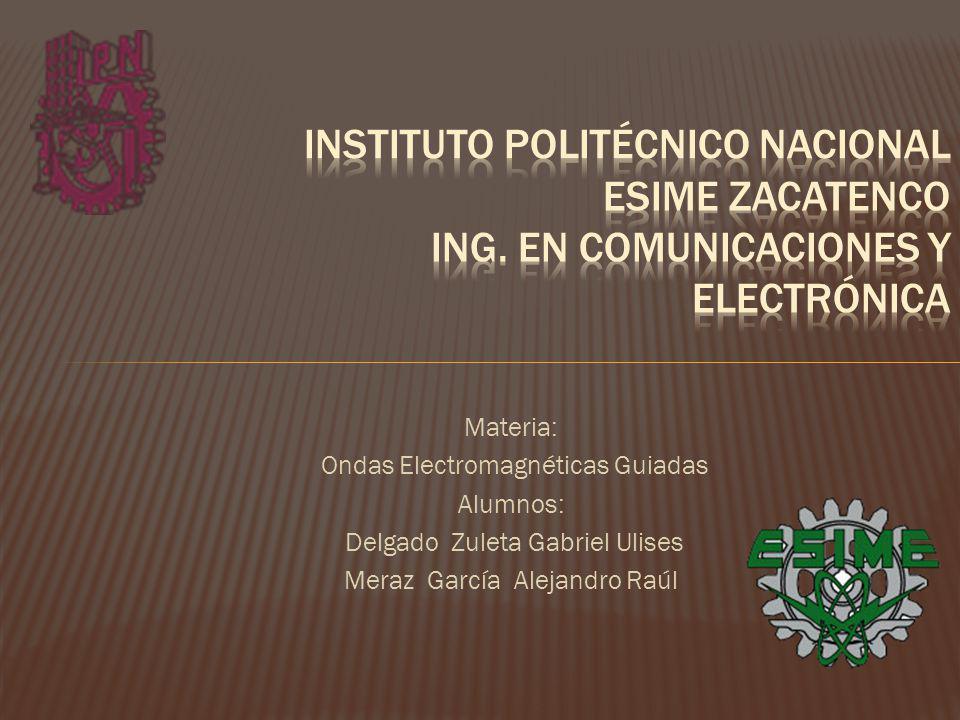 Instituto Politécnico Nacional esime Zacatenco Ing