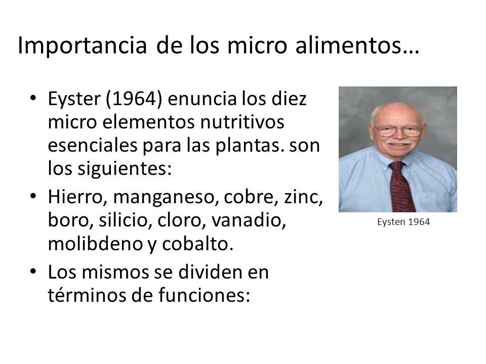 Importancia de los micro alimentos…