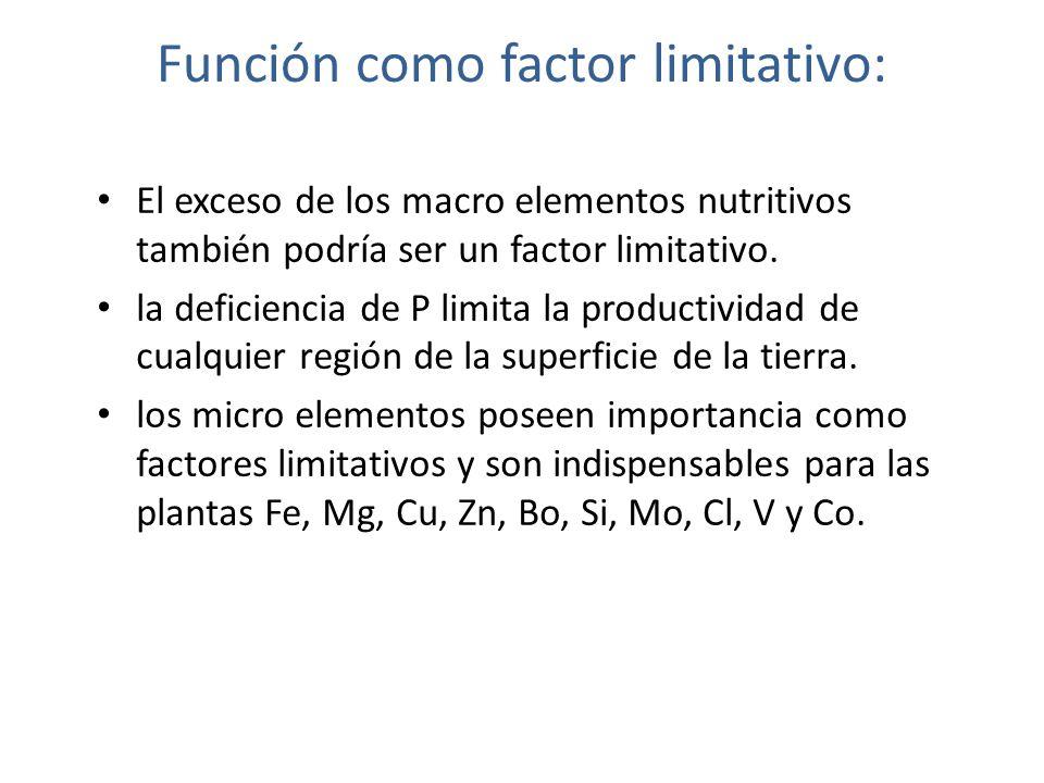 Función como factor limitativo: