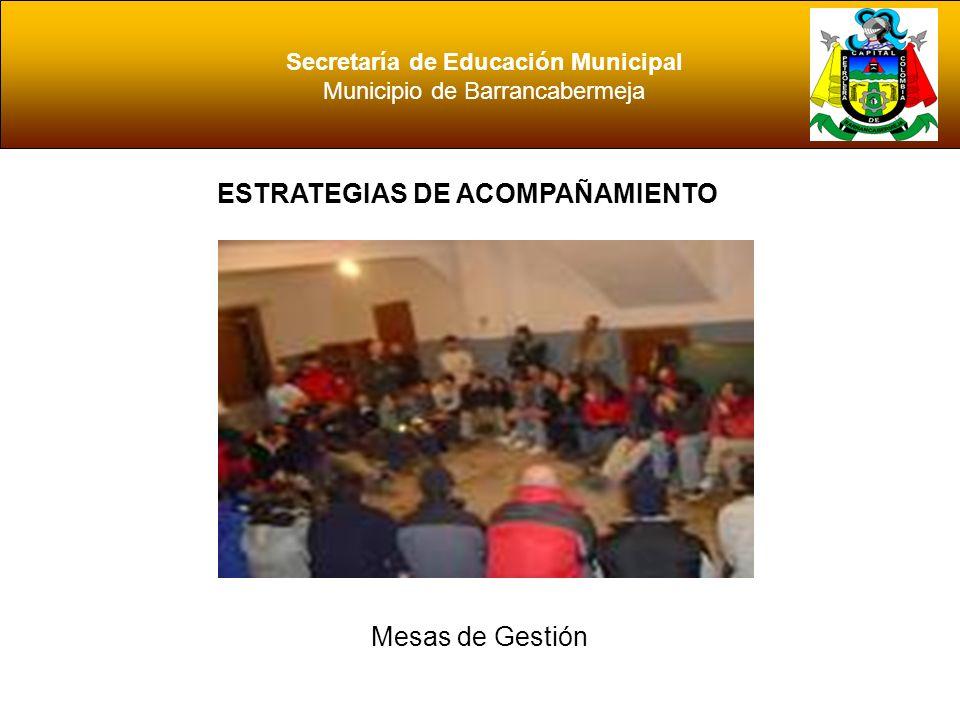 Secretaría de Educación Municipal ESTRATEGIAS DE ACOMPAÑAMIENTO
