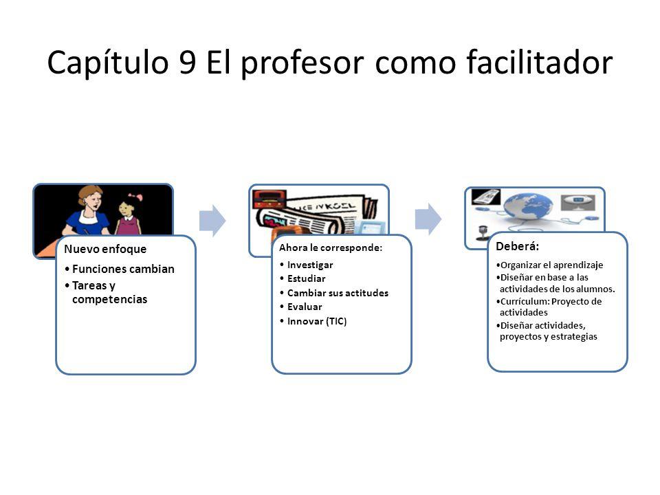 Capítulo 9 El profesor como facilitador