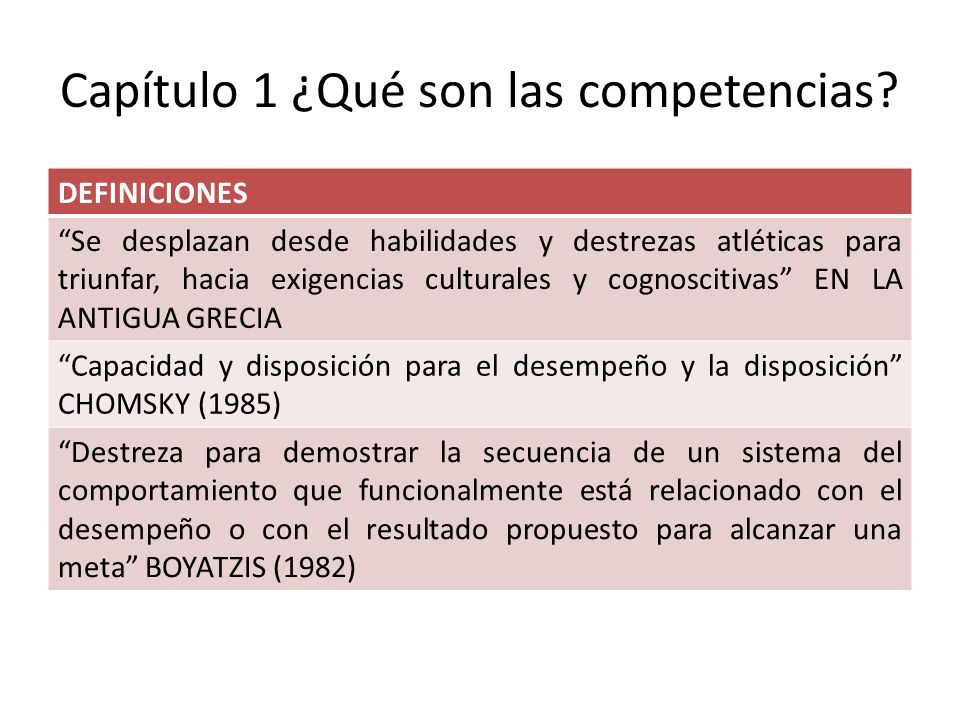 Capítulo 1 ¿Qué son las competencias