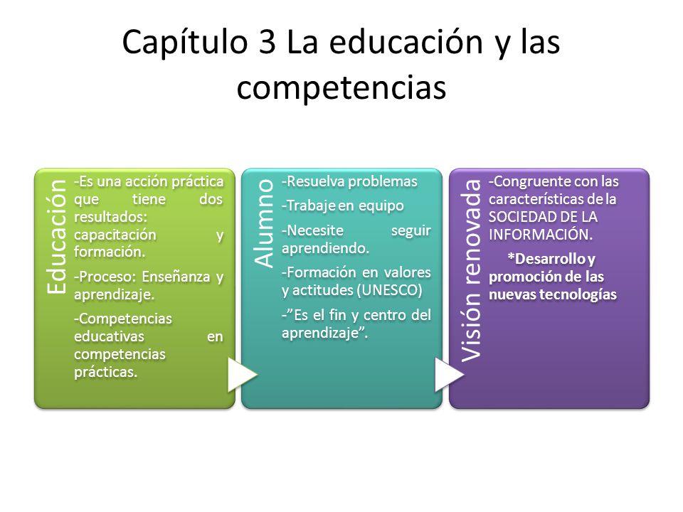 Capítulo 3 La educación y las competencias
