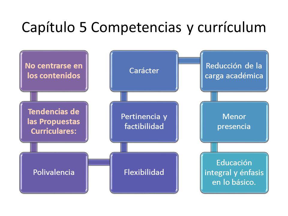 Capítulo 5 Competencias y currículum