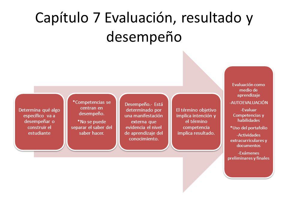 Capítulo 7 Evaluación, resultado y desempeño