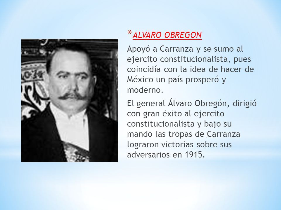 ALVARO OBREGON