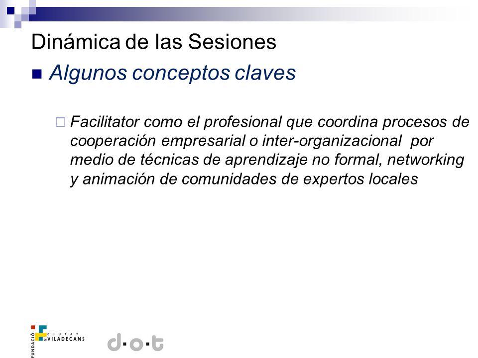Dinámica de las Sesiones Algunos conceptos claves