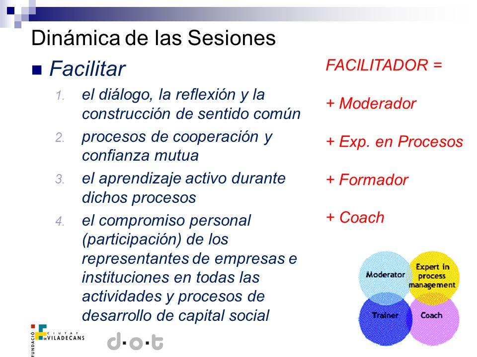 Dinámica de las Sesiones Facilitar