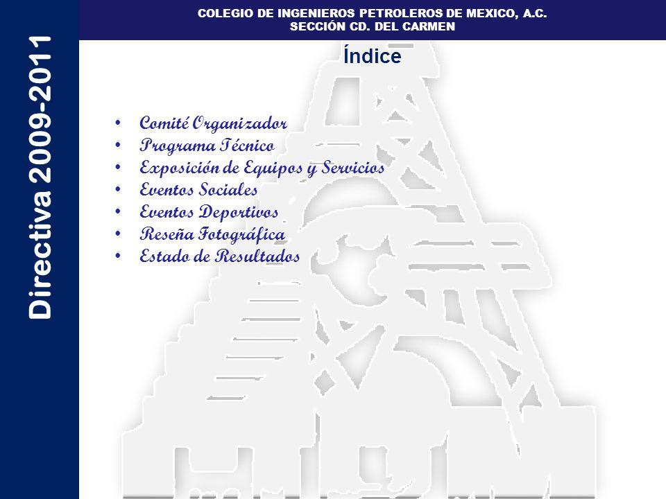 Índice Comité Organizador Programa Técnico