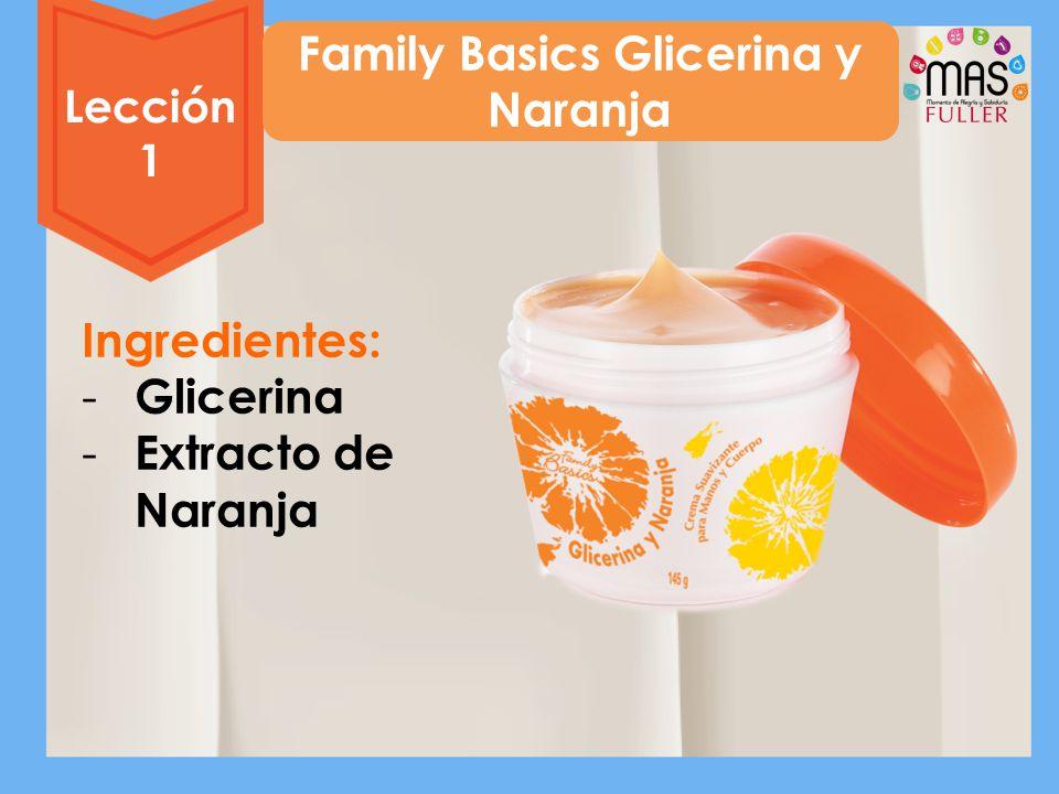 Family Basics Glicerina y Naranja