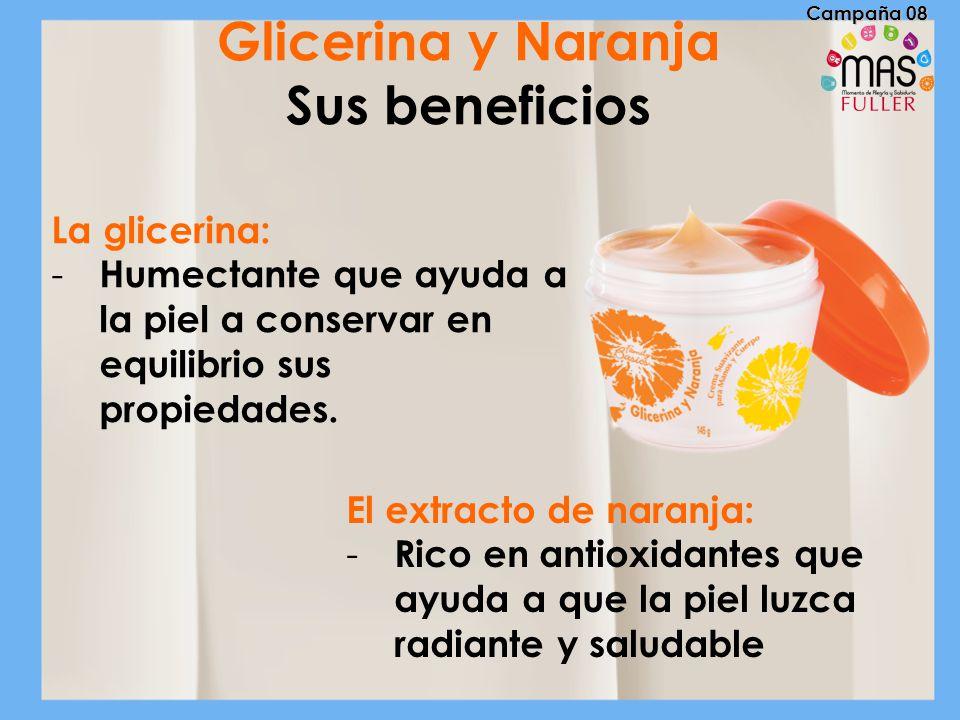 Glicerina y Naranja Sus beneficios