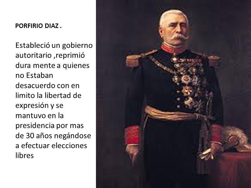 PORFIRIO DIAZ .