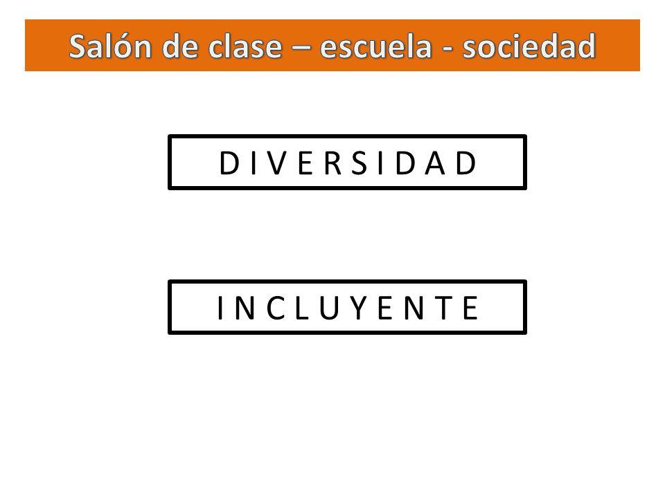 Salón de clase – escuela - sociedad