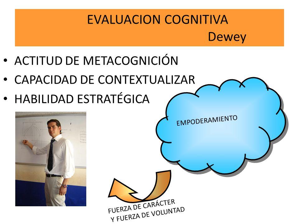 EVALUACION COGNITIVA Dewey