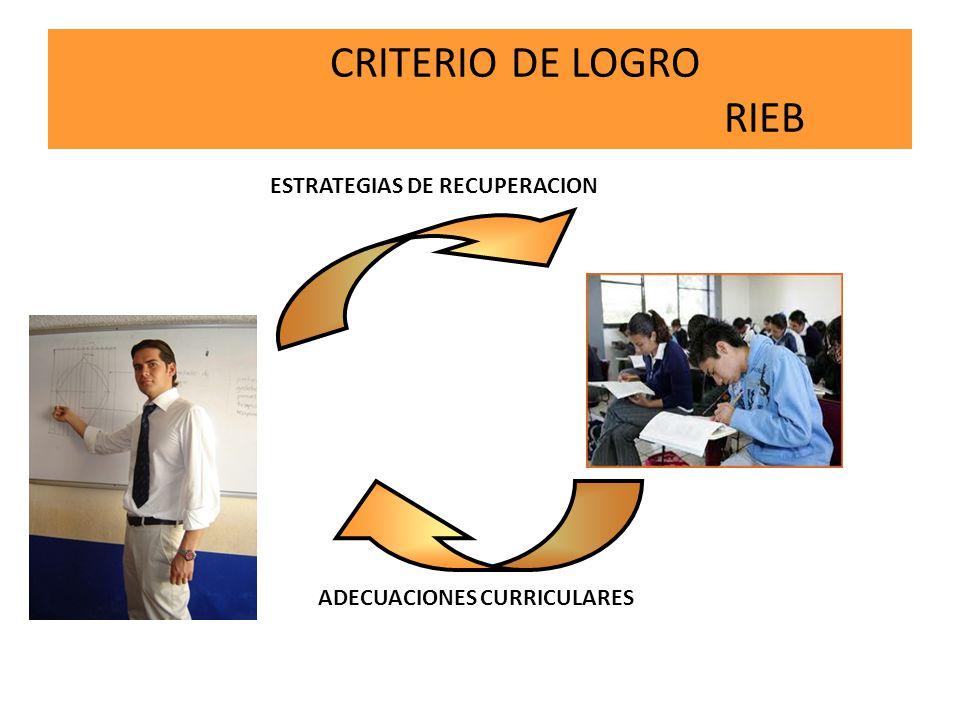 CRITERIO DE LOGRO RIEB ESTRATEGIAS DE RECUPERACION