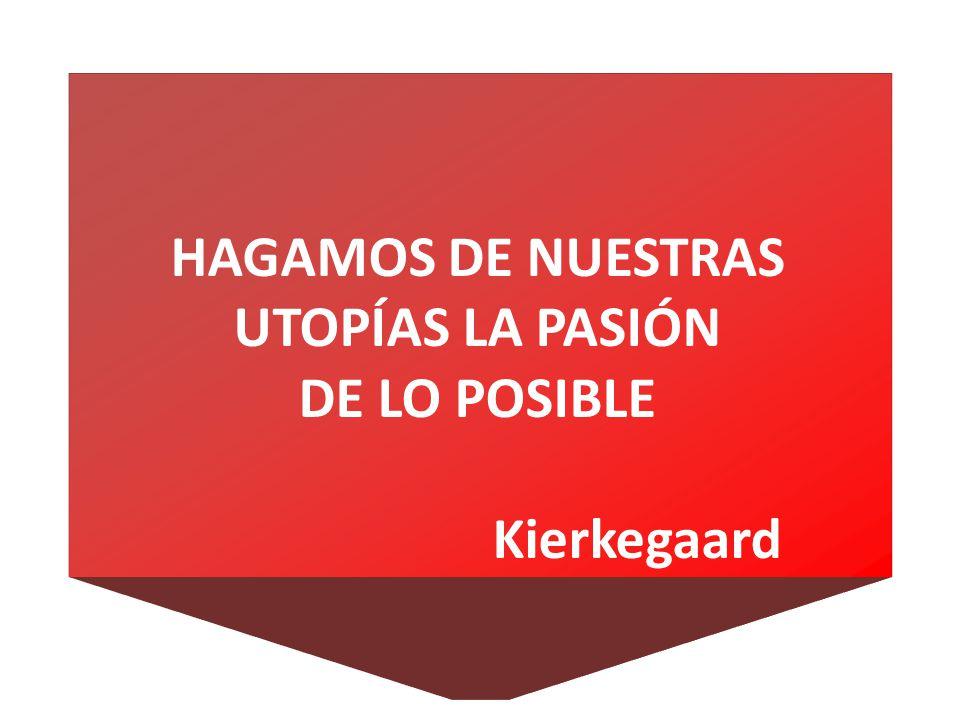HAGAMOS DE NUESTRAS UTOPÍAS LA PASIÓN DE LO POSIBLE Kierkegaard