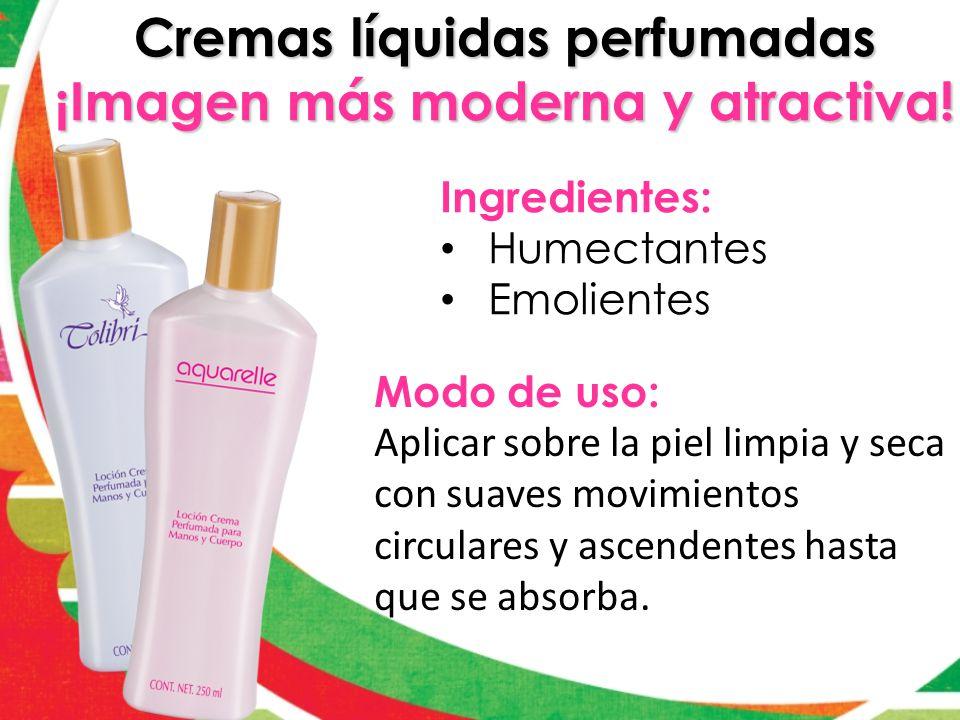 Cremas líquidas perfumadas ¡Imagen más moderna y atractiva!